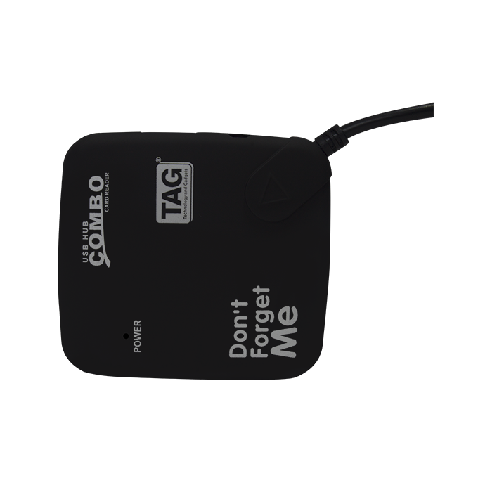 TAG 3 PORT USB HUB WITH CARD READER